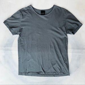 Zara Gray Short Sleeve 100% Cotton Round Neck Tee